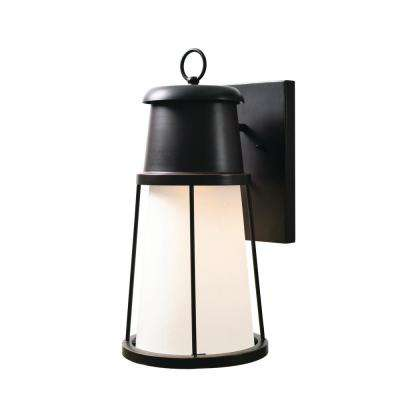 Harbinger 1-Light Bronze Outdoor Integrated LED Wall Mount Lantern