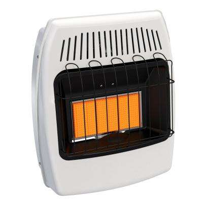 18,000 BTU Natural Gas Infrared Vent Free Thermostatic Wall Heater
