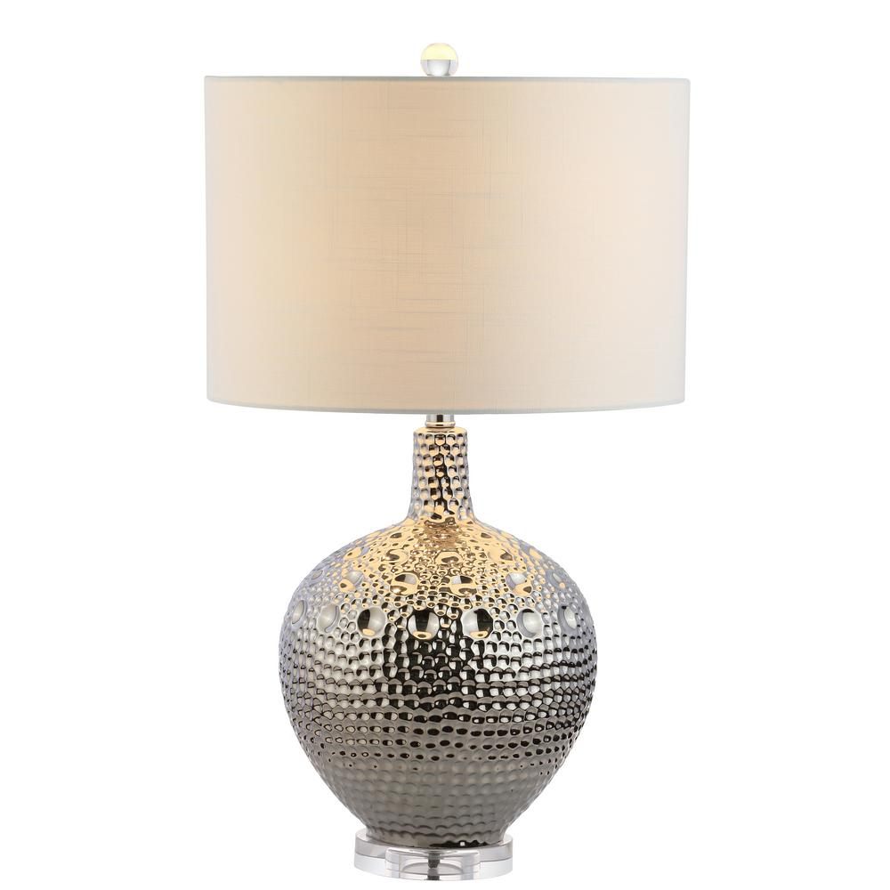 Andrews 27 in. H Chrome Ceramic Table Lamp
