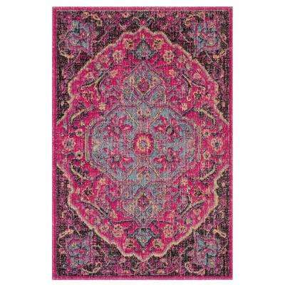 Artisan Fuchsia/Anthracite 3 ft. x 5 ft. Area Rug
