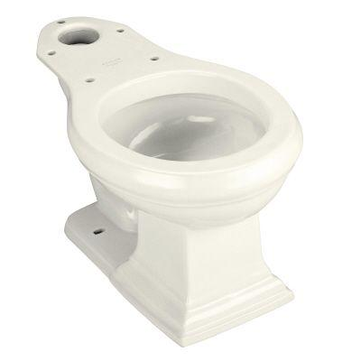 KOHLER Memoirs Round Front Seatless Toilet Bowl Only in Biscuit-DISCONTINUED