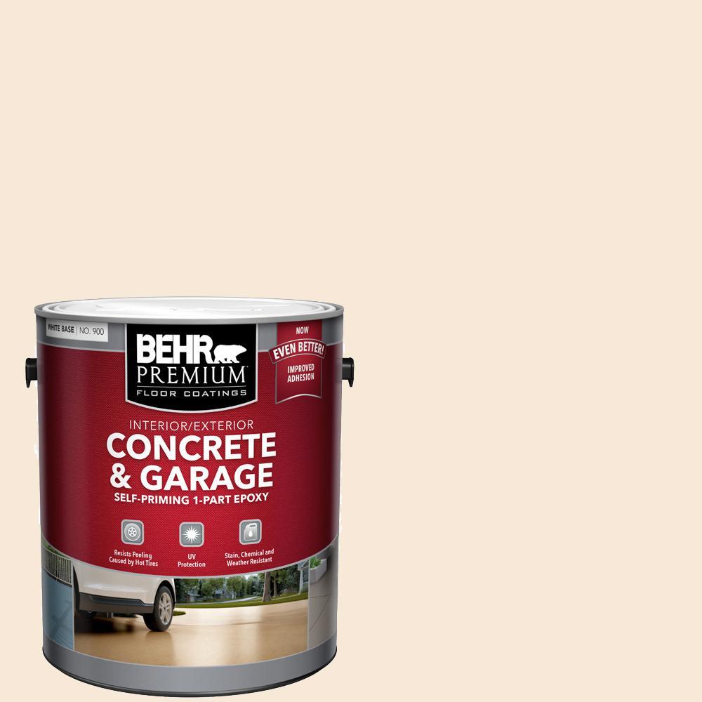 1 gal. White Self-Priming 1-Part Epoxy Satin Interior/Exterior Concrete and Garage Floor Paint