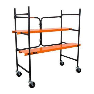 4-1/4 ft. x 4 ft. x 1-3/4 ft. Collapsible Rolling Scaffold 500 lbs. Load Capacity