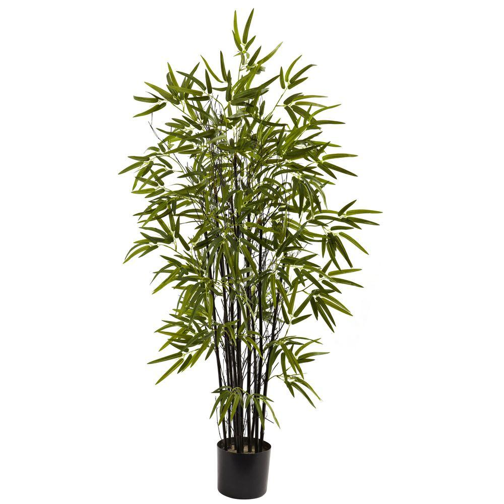 Nearly Natural 4 Ft Black Bamboo Tree 5417 The Home Depot