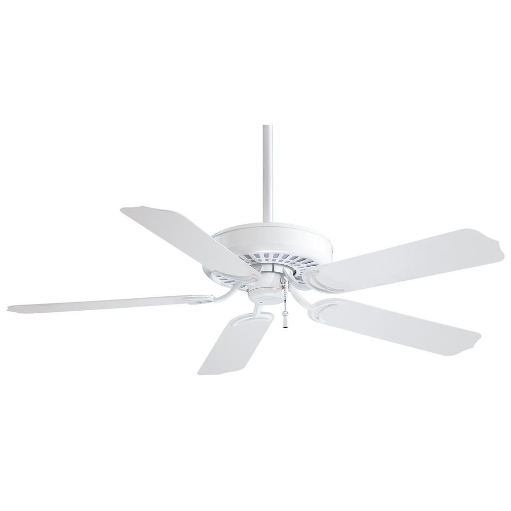 Minka-Aire Sundance 52 in. Indoor/Outdoor White Ceiling Fan