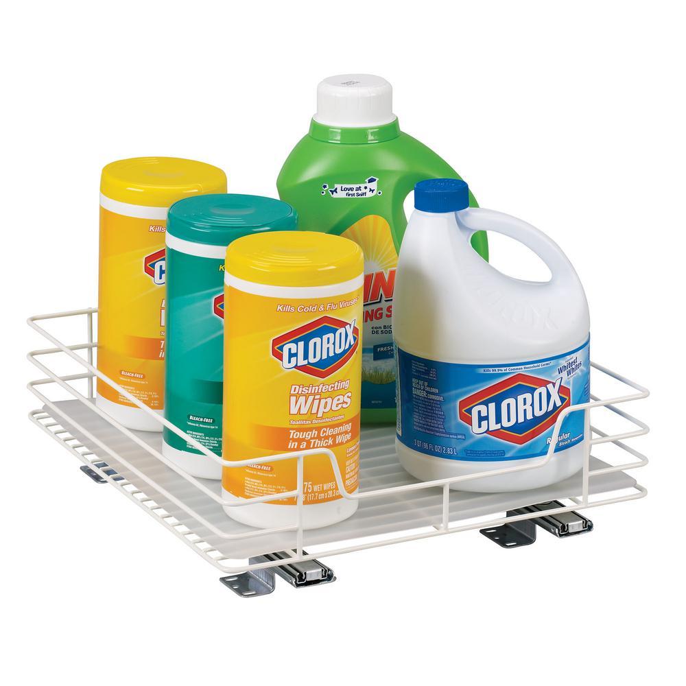 glidez sliding pantry organizer in white15161 the home depot