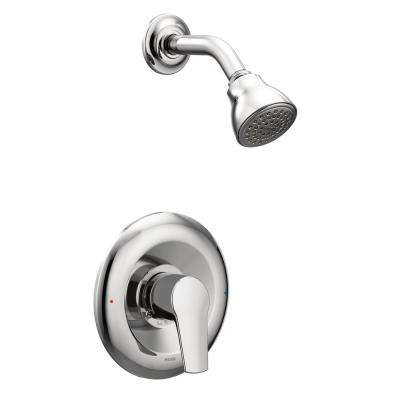 Method Single-Handle 1-Spray PosiTemp Shower Faucet Trim Kit Only in Chrome (Valve Not Included)
