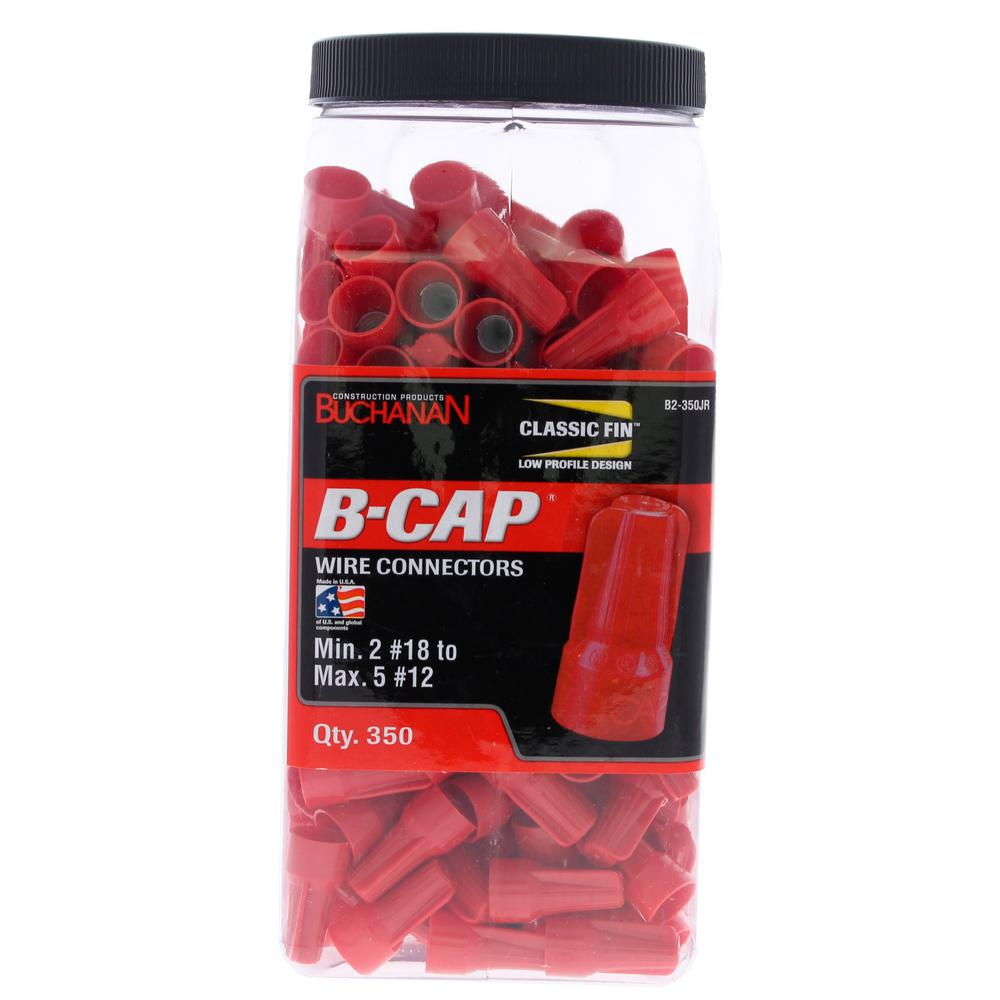 Gardner Bender 22 - 16 AWG Butt Splice Wire Connectors in Red (75 ...