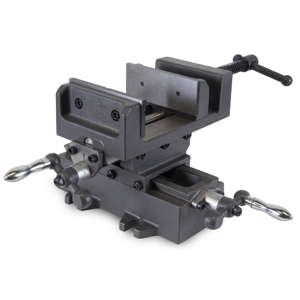 4 25 in  Compound Cross Slide Industrial Strength Benchtop and Drill Press  Vise