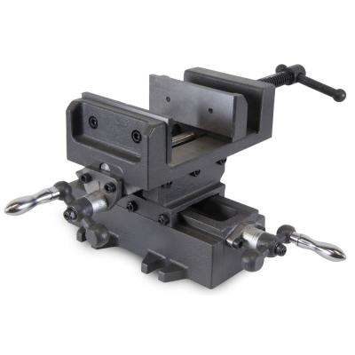 4 in. Compound Cross Slide Industrial Strength Benchtop and Drill Press Vise