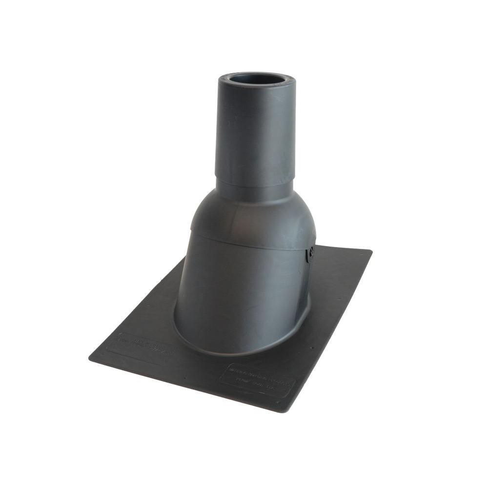 Perma-Boot 4 in. Inside Diameter Black New Construction or Reroof Thermoplastic Vent Pipe Roof Flashing