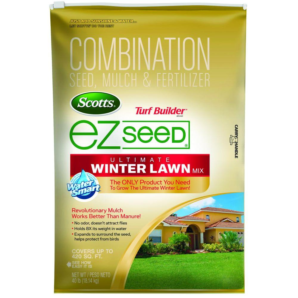 Scotts 40 Lb Turf Builder Ez Seed Ultimate Winter Lawn Gr Mix