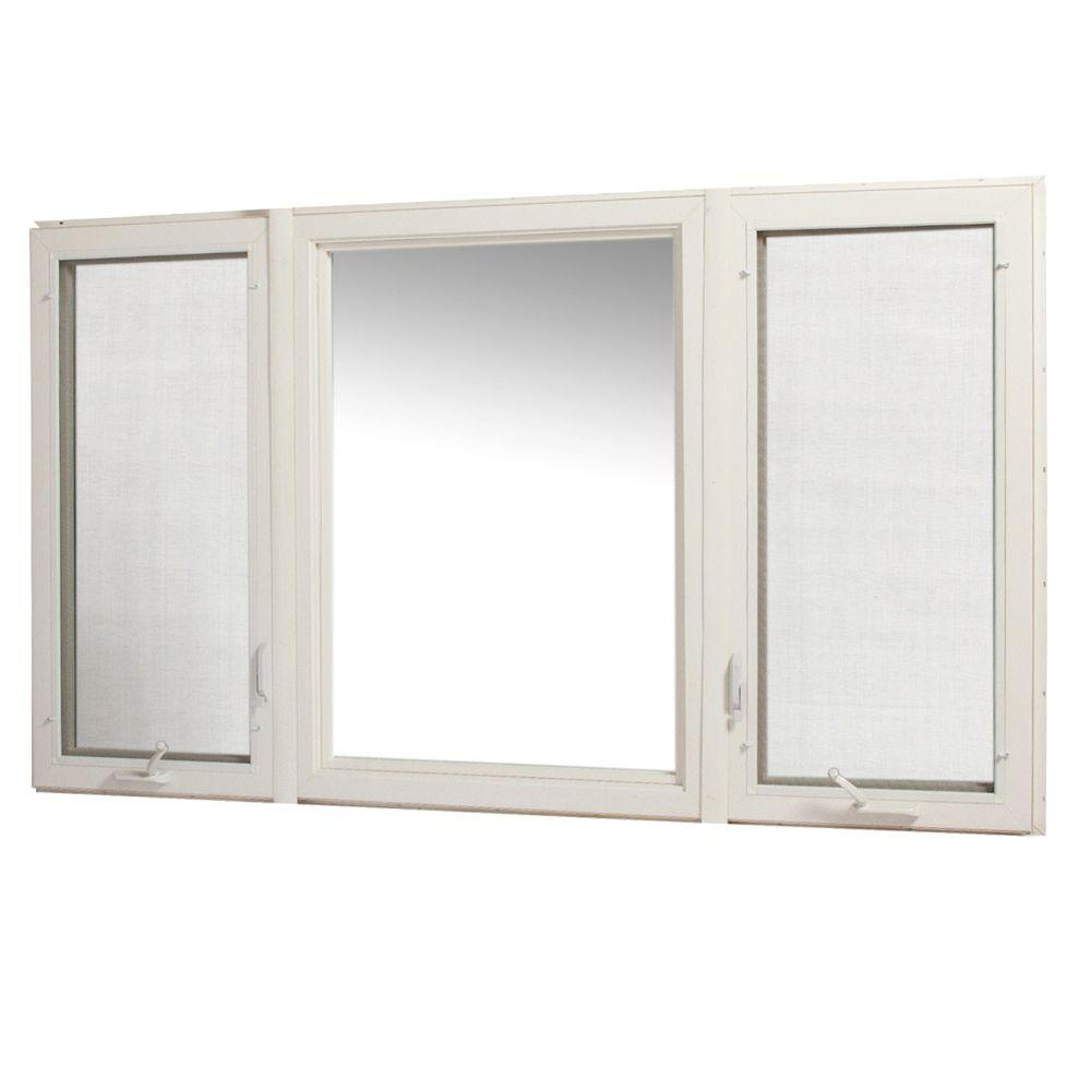 Tafco windows 83 in x 48 in vinyl casement window with for Installing casement windows