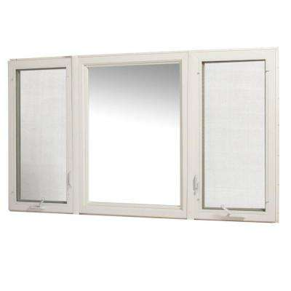 Vinyl Casement Window with Screen