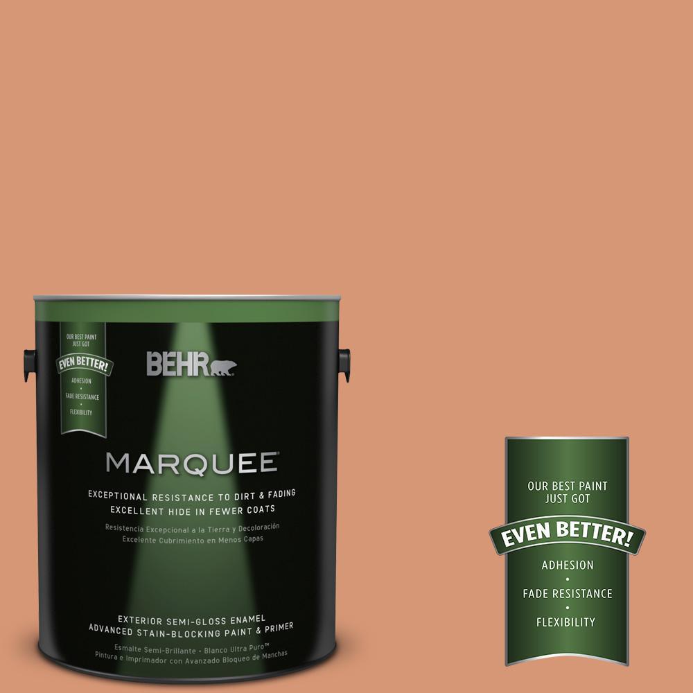 1-gal. #M210-5 Candied Yams Semi-Gloss Enamel Exterior Paint