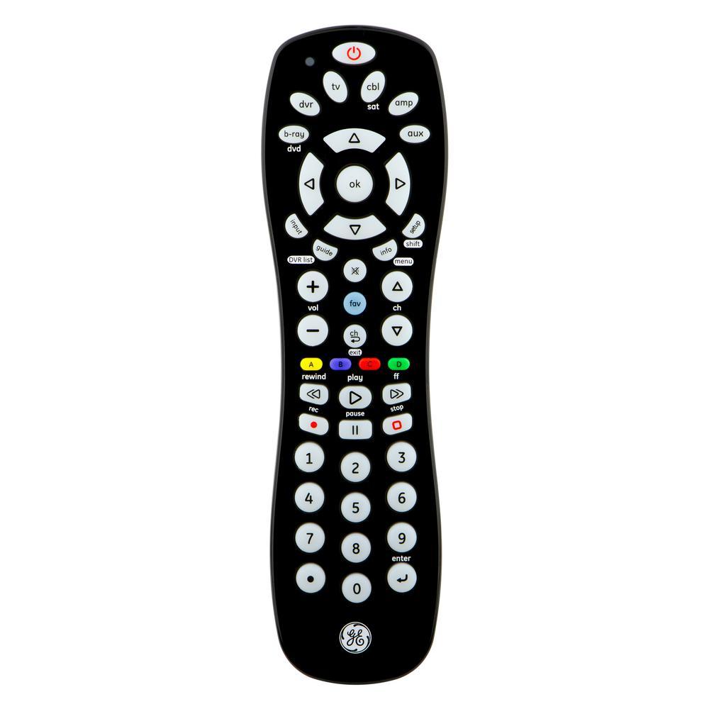 6-Device Universal Remote Control, Black