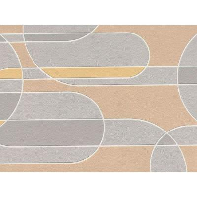 Grey Funky Transparent Oval Wallpaper