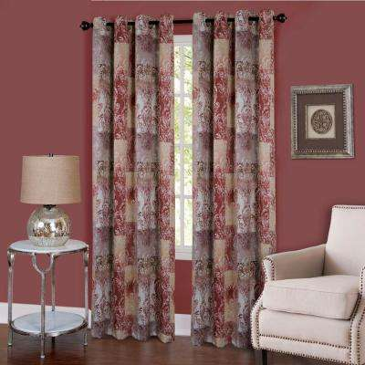 Vogue Marsala Grommet Window Curtain Panel - 50 in. W x 84 in. L
