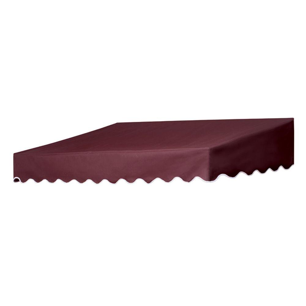 6 ft. Traditional Non-Retractable Door Canopy (50 in. Projection) in Burgundy