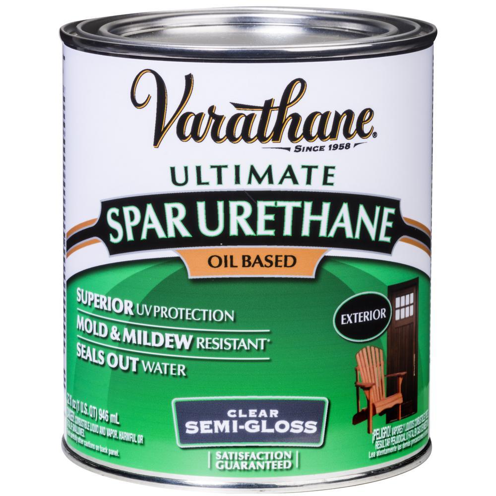 Varathane 1 Qt Clear Semi Gloss Oil Based Exterior Spar