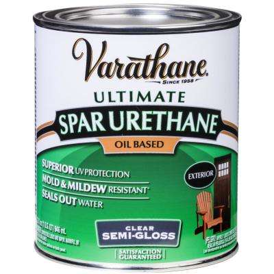1 qt. Clear Semi-Gloss Oil-Based Exterior Spar Urethane (2-Pack)