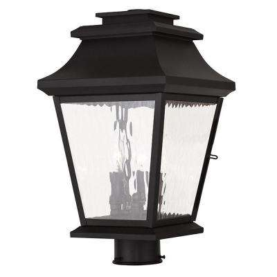Hathaway 3-Light Black Post Light