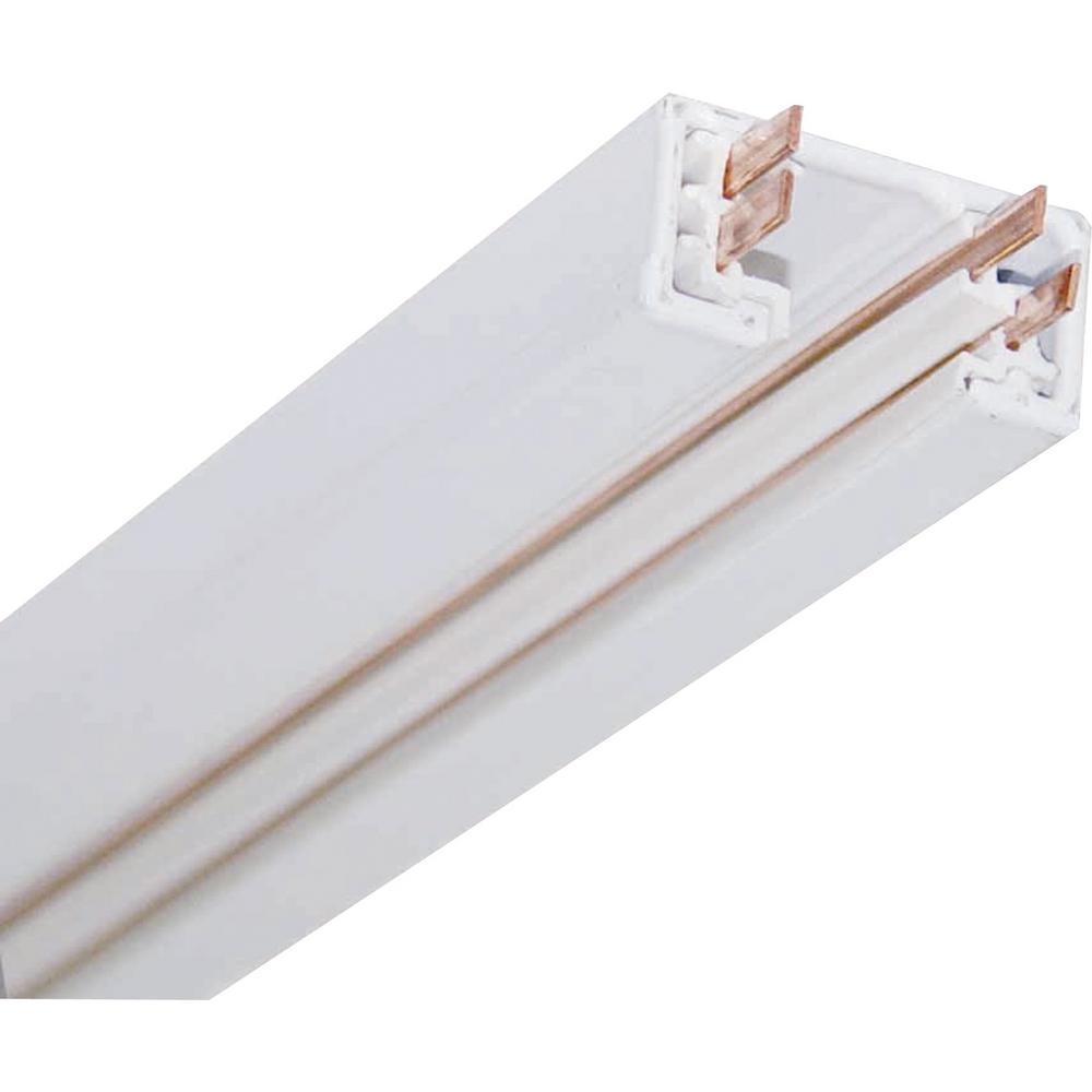 8 ft. 120-Volt 2-Circuit/1-Neutral White Aluminum Linear Track System/Rail/Section