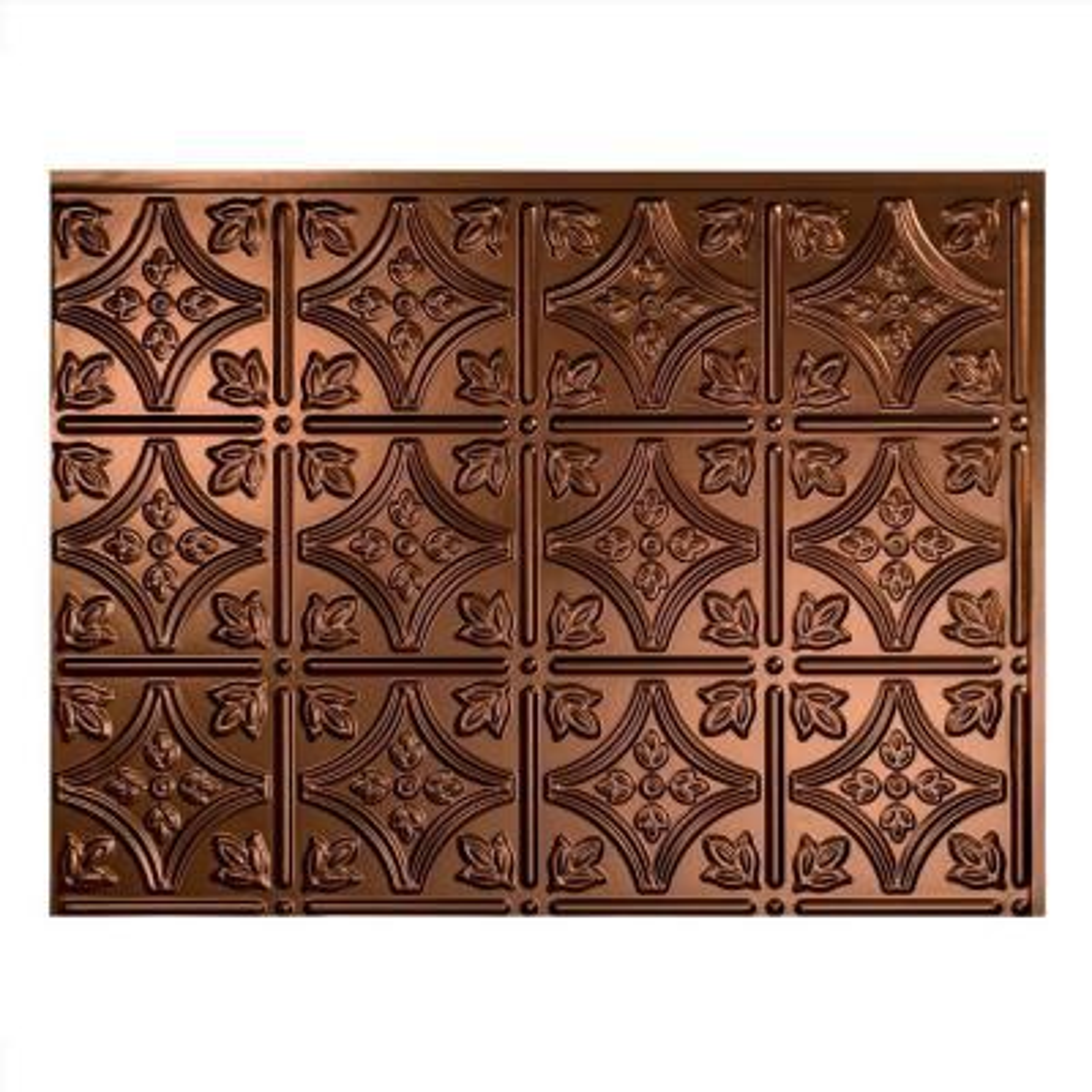 18 in. x 24 in. Traditional #1 Oil Rubbed Bronze Vinyl Backsplash Panel (Pack of 5)