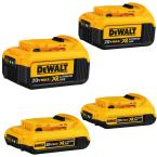 DEWALT 4-Pack 20-Volt Max 2-Amp-Hours/4-Amp-Hours Power Tool Battery