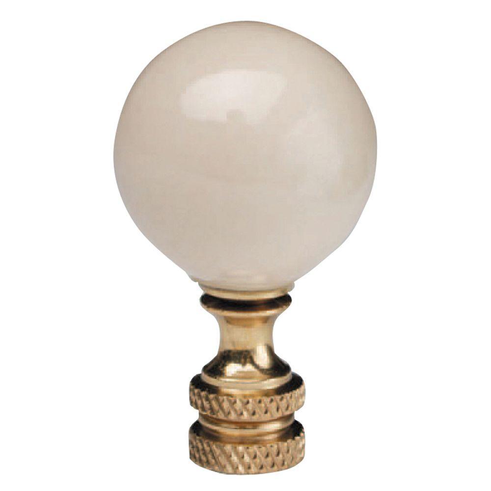 Ivory Ceramic Ball Lamp Finial