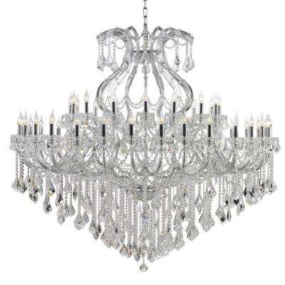 Maria Theresa Collection 48-Light Polished Chrome Crystal Chandelier