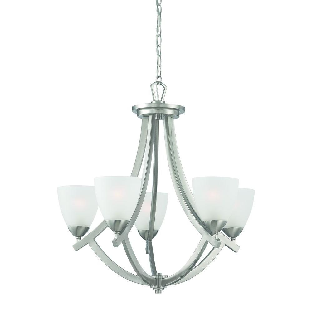 Thomas Lighting Charles 5-Light Brushed Nickel Chandelier-DISCONTINUED