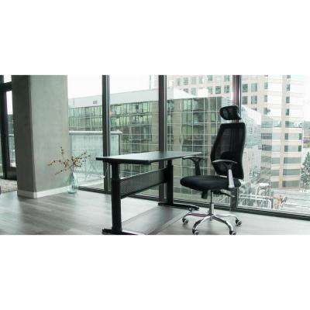Black Adjustable Height Crank Computer Desk