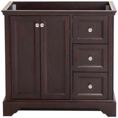 Stratfield 36 in. W x 22 in. D x 34 in. H Bath Vanity Cabinet Only in Chocolate