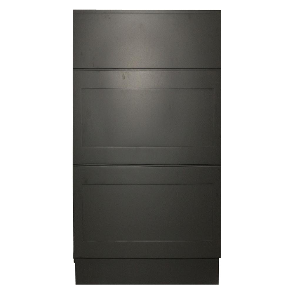Black Satin Shaker II - Ready to Assemble 18x33x21 in. Vanity