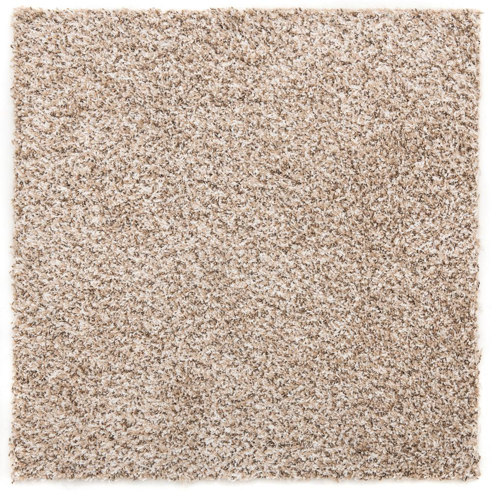 Nance Carpet and Rug Residential Sandy Beige Peel and Stick 24 in. x 24 in. Carpet Tile (6 Tiles/Case)