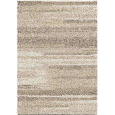 Modern Motion Beige 9 ft. x 13 ft. Area Rug