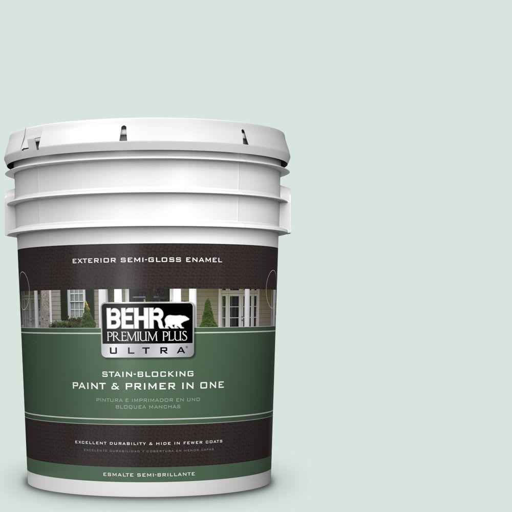 BEHR Premium Plus Ultra 5-gal. #S420-1 New Day Semi-Gloss Enamel Exterior Paint