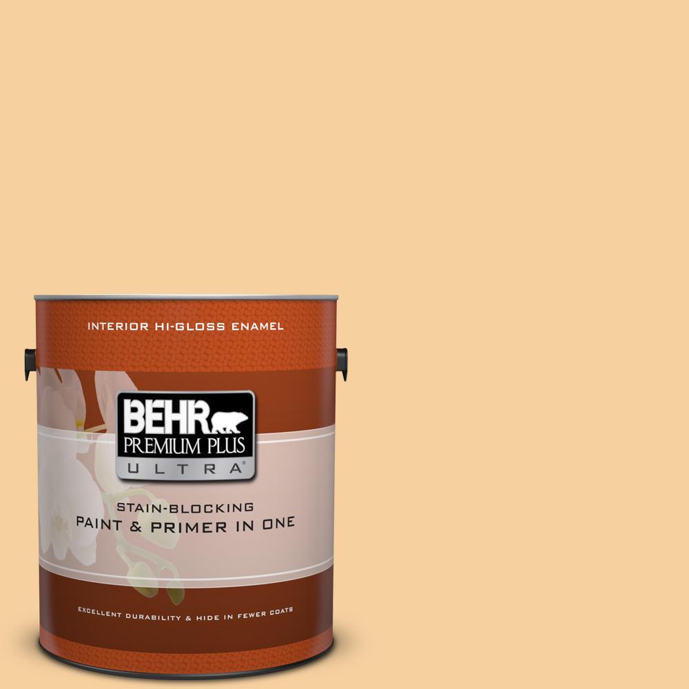 1 gal. #320C-3 Honey Butter Hi-Gloss Enamel Interior Paint