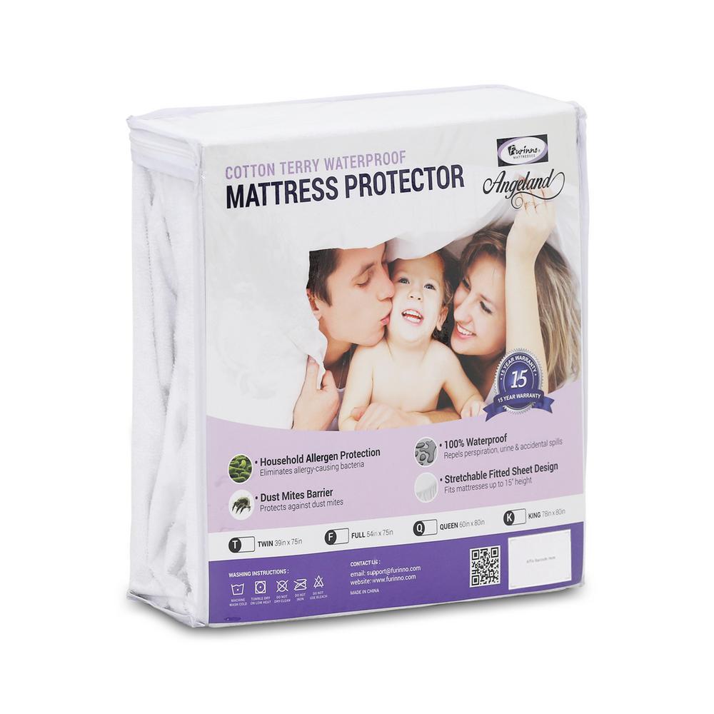 Cotton Waterproof Hypoallergenic Queen Mattress Protector
