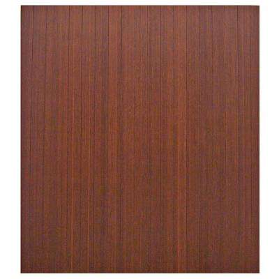 Standard 5 mm Dark Brown Mahogany 42 in. x 48 in. Bamboo Roll-Up Office Chair Mat without Lip
