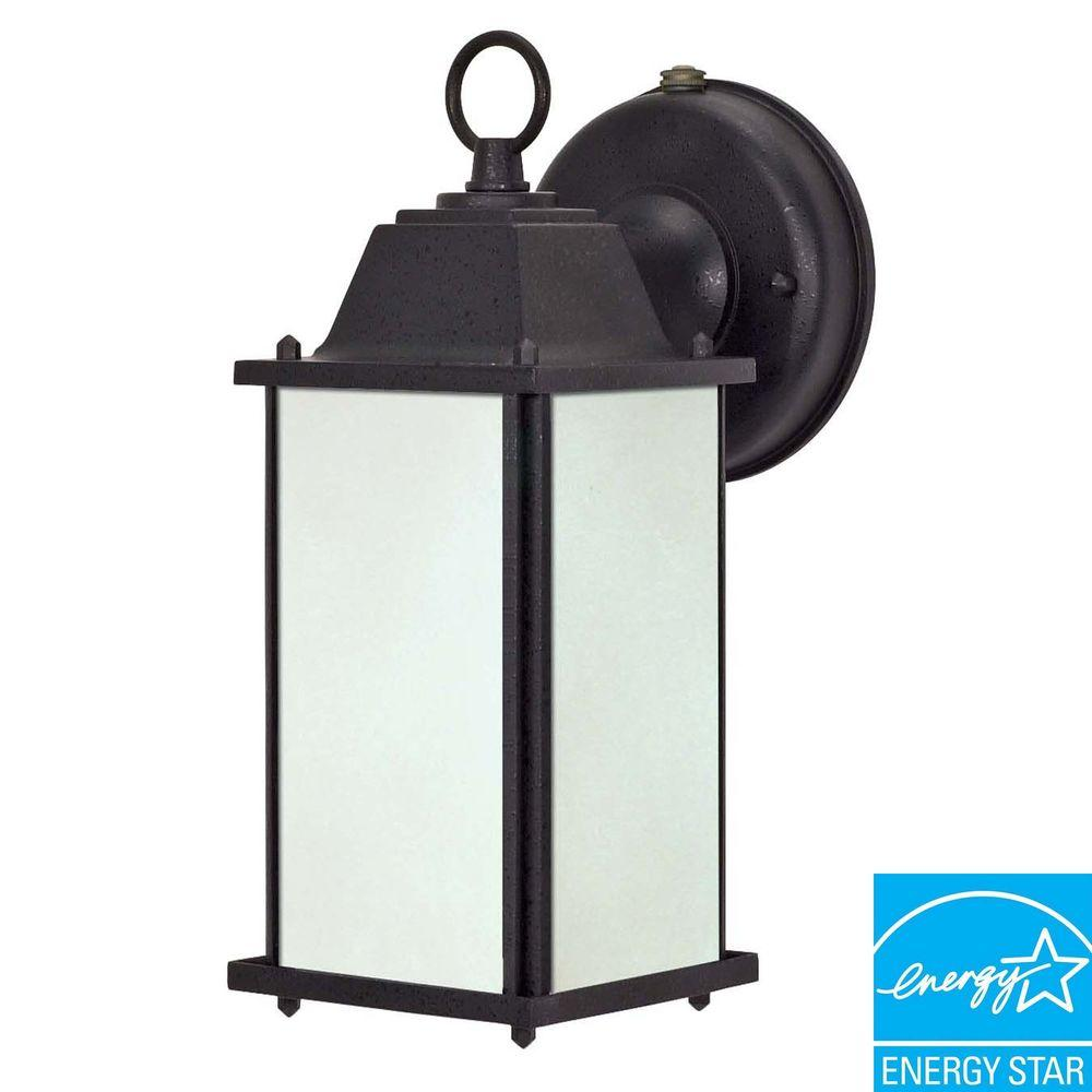 Wall Mount Outdoor Black Lantern