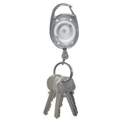 .3 in. x 3.5 in. x 1.3 in. Reel Key Chain with Chrome Carabiner (6-Pack)