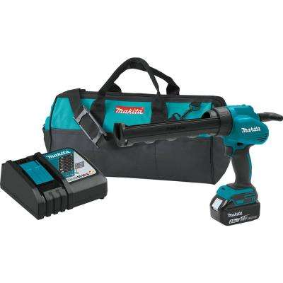 18-Volt Lithium-Ion Cordless 10 oz. Caulk and Adhesive Gun Kit with (1) 5.0Ah Battery, Rapid Charger, and Tool Bag