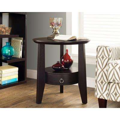 Cappuccino Storage End Table