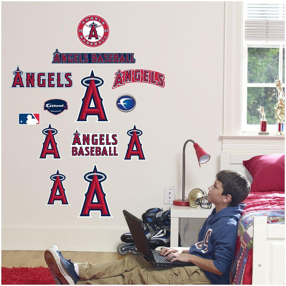 Fathead 40 in. x 27 in. Los Angeles Angels Team Logo Assortment Wall Decal