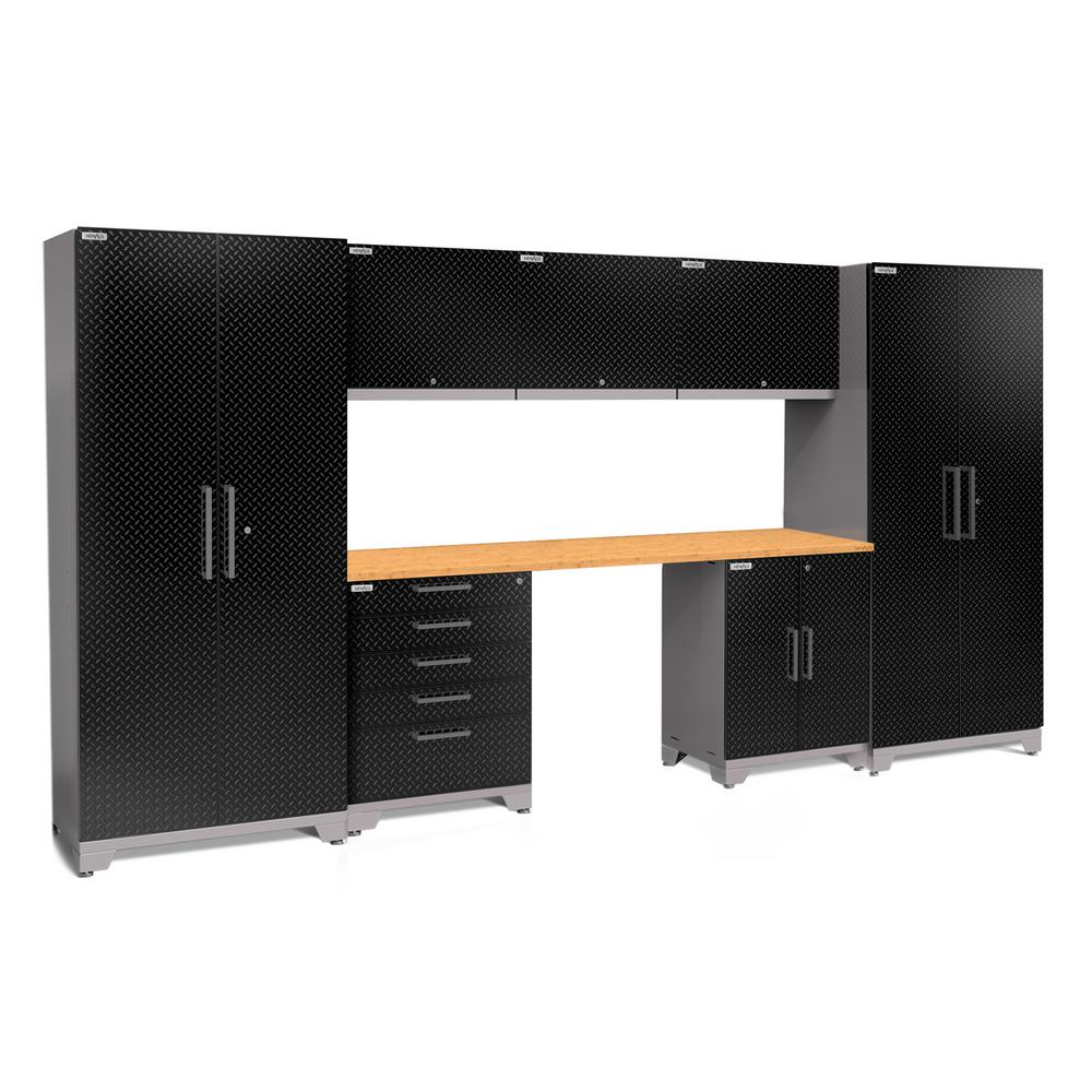 This Review Is From Performance Plus Diamond Plate 2 0 80 In H X 156 W 24 D Garage Cabinet Set Black 8 Piece