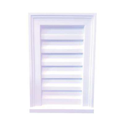 12 in. x 18 in. x 2-1/2 in. Polyurethane Decorative Rectangle Decorative Louver Vent in White