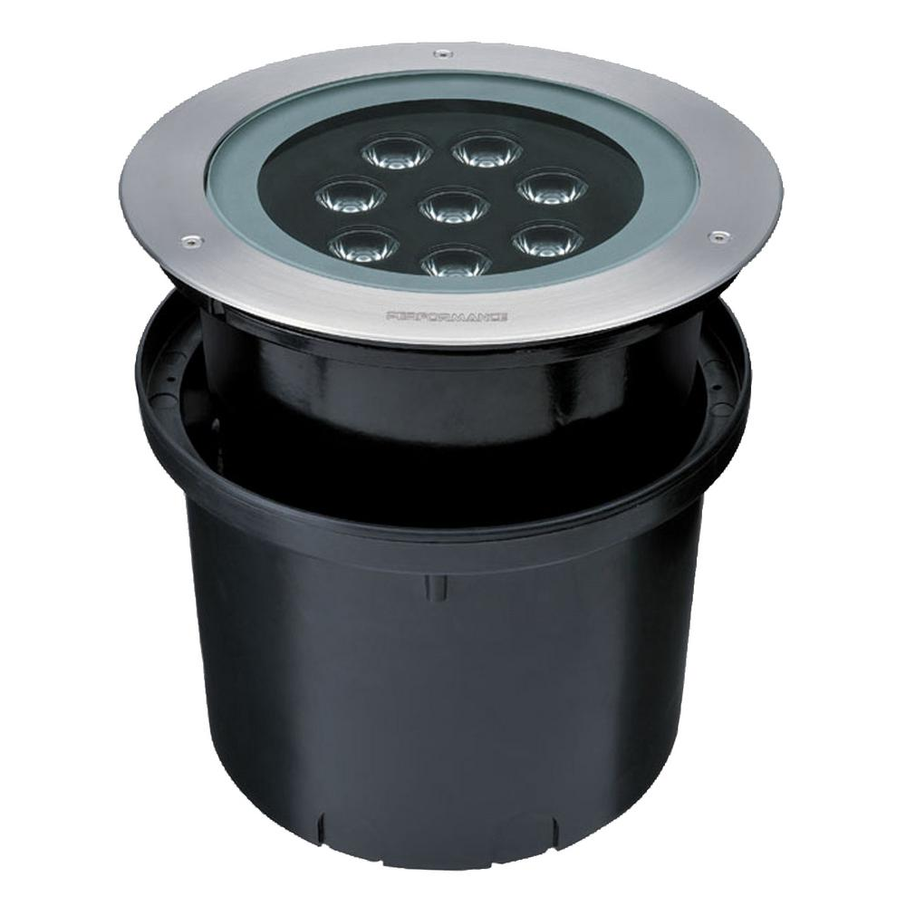 12-Watt Stainless Steel Outdoor Integrated LED Landscape Well Light