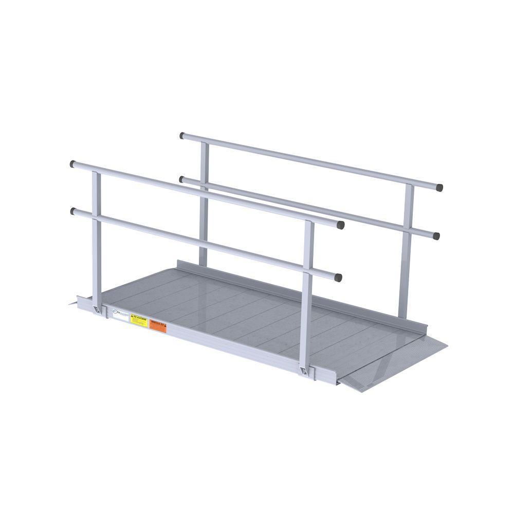 EZ-ACCESS Gateway 6 ft. Aluminum Portable Ramp with Handr...